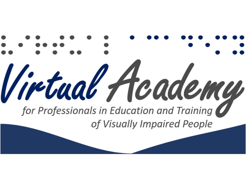 "Logotipo do VAPETVIP (""Virtual Academy for Professionals in Education and Training of Visually Impaired People"""